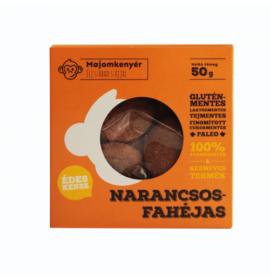 MAJOMKENYÉR NARANCSOS-FAHÉJAS PALEOKEKSZ 50G