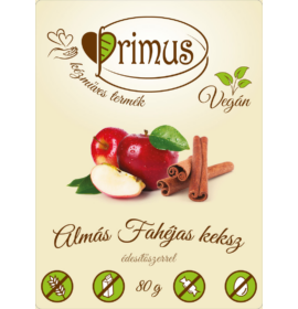 PRIMUS ALMÁS-FAHÉJAS GLUTÉNMENTES&VEGÁN KEKSZ 80G