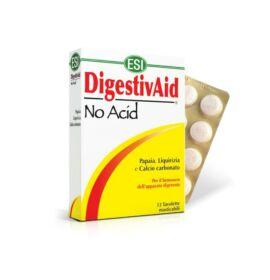 ESI® No Acid-Stop a savaknak!- Lúgosító-savlekötő szopogatós tabletta, gyomorégésre, puffadásra. 12x