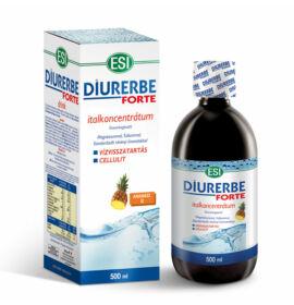 ESI® Diurerbe® Forte italkoncentrátum, Ananász íz – Vízvisszatartás és cellulit ellen. 500ml