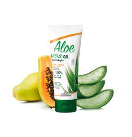 Specchiasol® Aloe vera gél papaya - vitaminok és narancs illóolaj erejével. ECOBIO minősítésű 100%-os, külsőleg