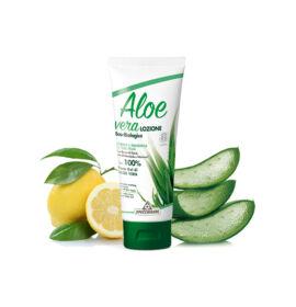 Specchiasol® Aloe vera feszesítő testápoló - Sheavaj, E-vitamin, mandula és citromolajjal.  ECOBIO minősítés 100%-os
