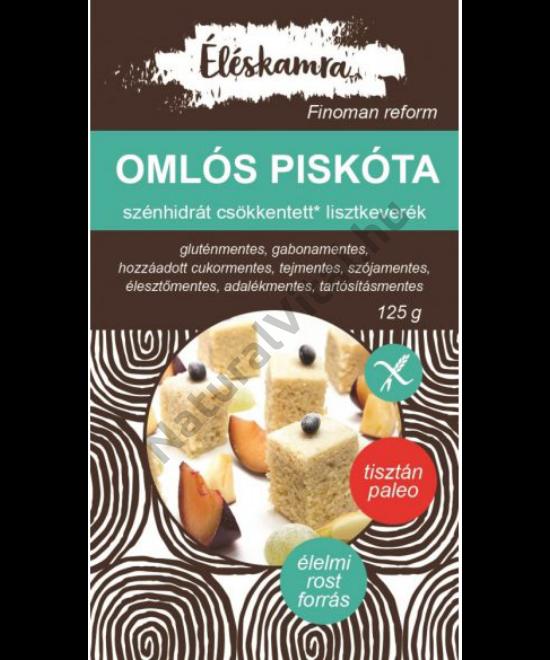 PALEOLIT ÉLÉSKAMRA OMLÓS PISKÓTA LISZTKEVERÉK 125G