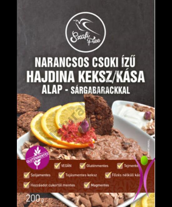 SZAFI FREE  NARANCSOS CSOKI ÍZŰ HAJDINA KÁSA/KEKSZ ALAP - SÁRGABARACKKAL - 200G