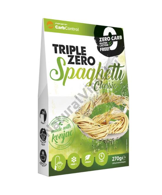 Forpro zero kalóriás tészta - spaghetti cukor/zsír/laktóz/glutén/szójamentes 270 g