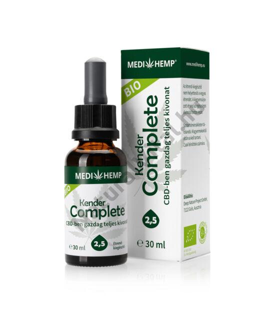 MEDI HEMP Bio Kender Complete 2,5%, CBD olaj, 30 ml