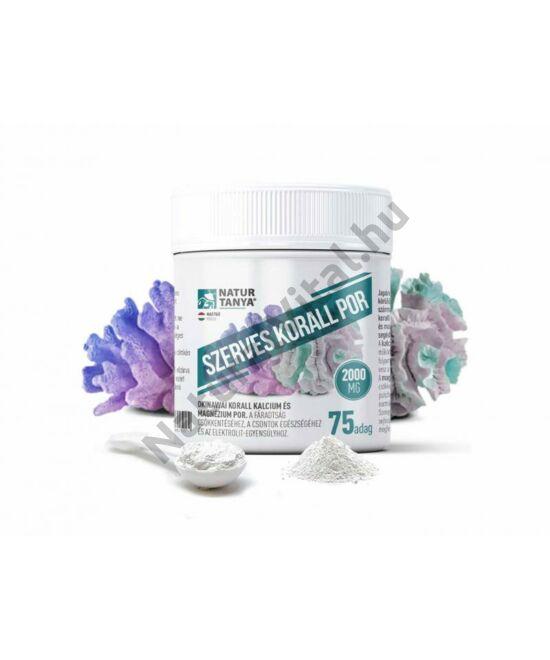Natur Tanya® Szerves korall por - okinawai korall eredetű kalciumot és magnéziumot tartalmazó étrend-kiegészítő