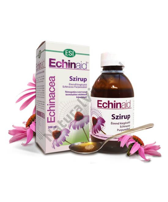 ESI® Echinaid® Immunerősítő Echinacea szirup - hozzáadott gesztenyemézzel, és balzsamos gyógynövényekkel.