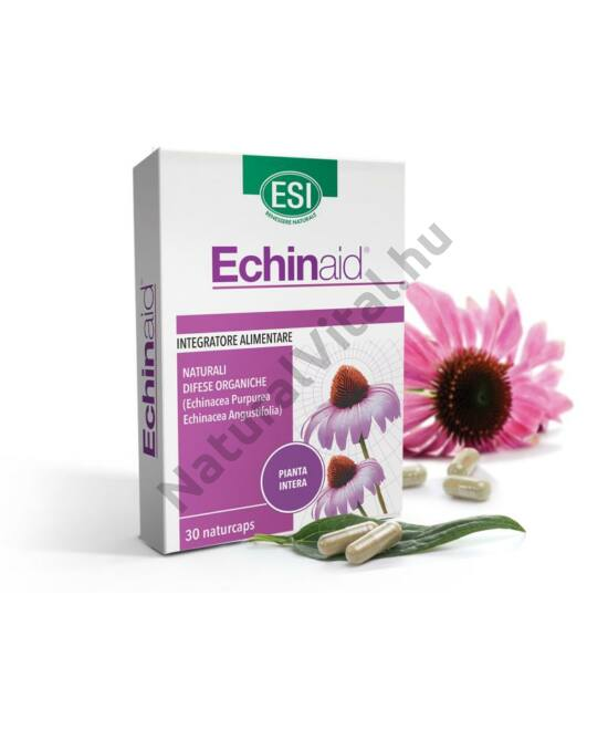 ESI Echinaid® Echinacea, kasvirág koncentrátum 30 db - 2 féle Echinaceából, 4 féle növényi részből. Standardizált étrend-kiegészítő, fermentált növényi kapszulatokban