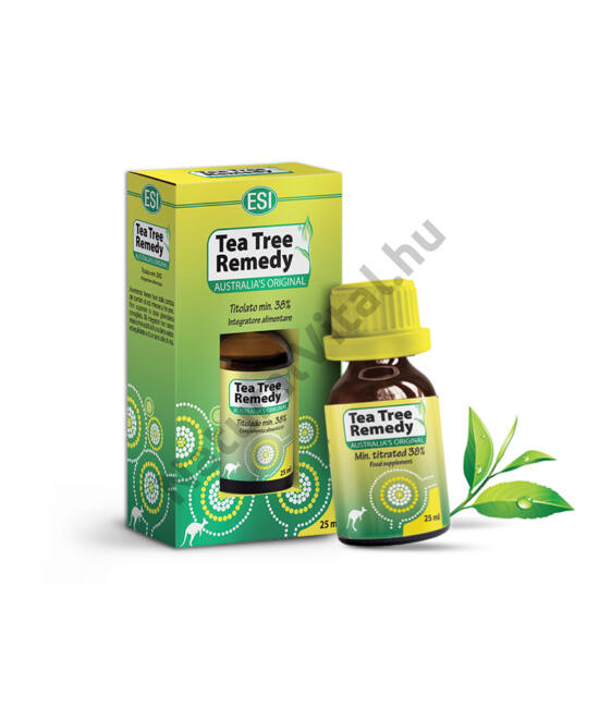 ESI® 100%-os tisztaságú Ausztrál Teafa olaj - Garantált 38 % feletti aktív hatóanyag (össz terpén) tartalom! 25ml