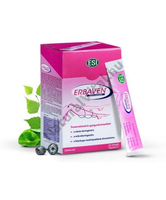 ESI® ERBAVEN® ivótasakok - lábödémákra szakosodva. Érfal erősítő T-vitaminnal, növényi kivonatokkal