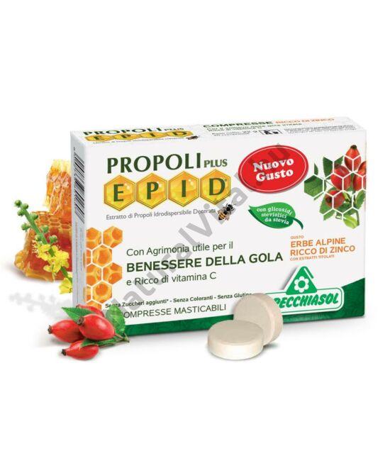 Specchiasol® Cukormentes Propolisz szopogatós tabletta cinkkel dúsítva,alpesi gyógynövénnyel  - EPID® szabadalom
