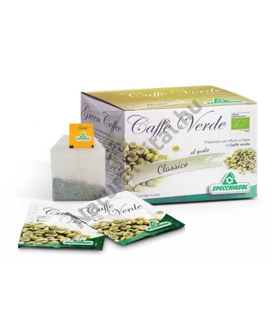 Specchiasol® Bio Zöld kávé filter, 100%, tiszta zúzott magvak, kiemelkedően magas klorogénsav tartalommal.