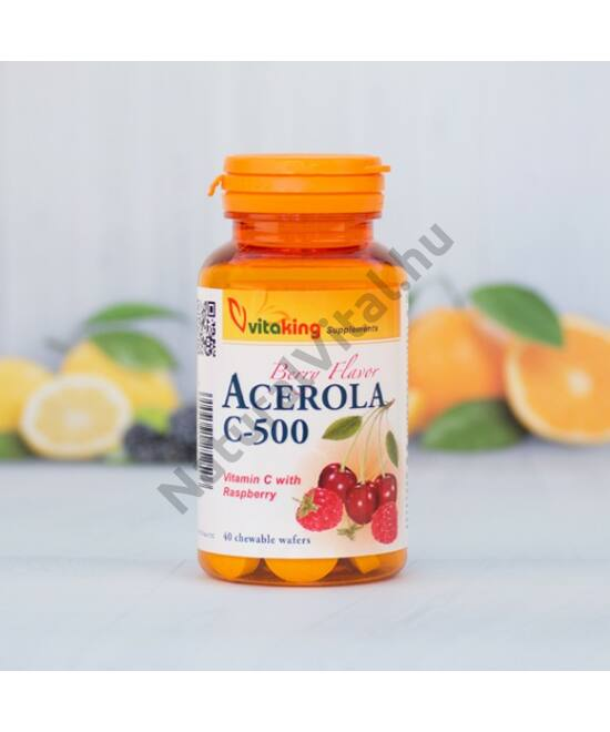 Vitaking Acerola C-500 vitamin rágótabletta 40 db