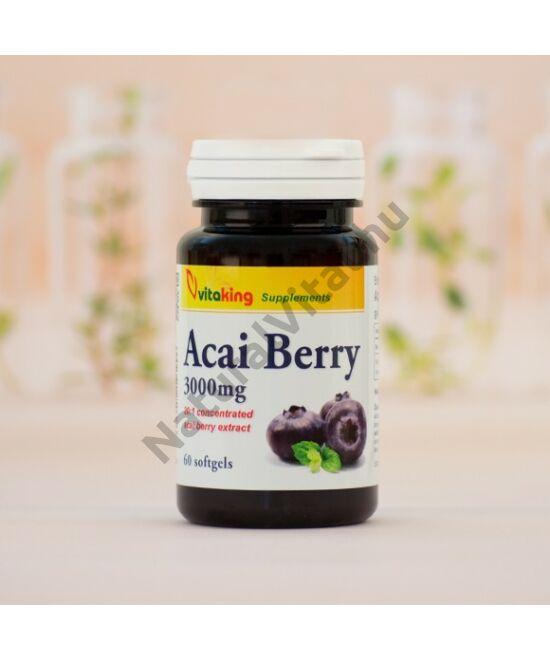 Vitaking Acai Berry 3000mg acai bogyó kivonatot tartalmazó kapszula 60 db