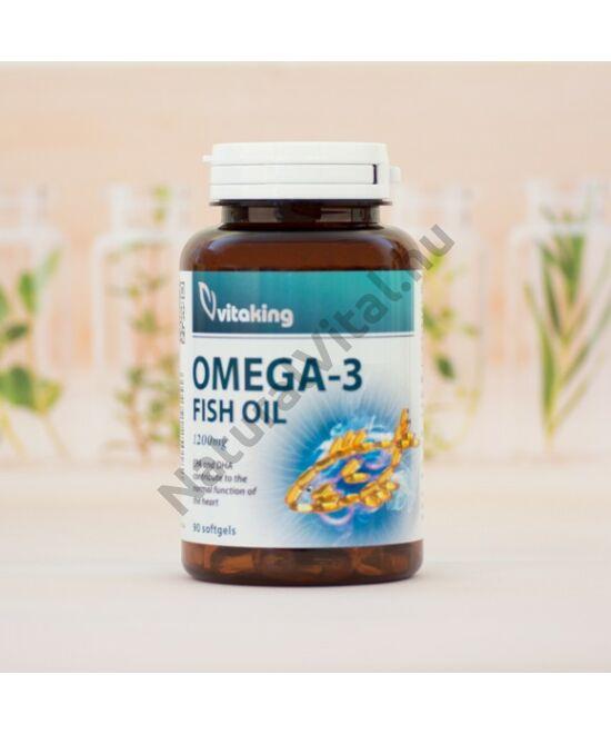 Vitaking Omega-3 halolaj 1200 mg kapszula 90 db