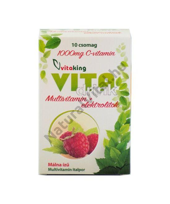 Vitaking VitaDrink vitamin- és ásványi anyag tartalmú italpor 10 tasak