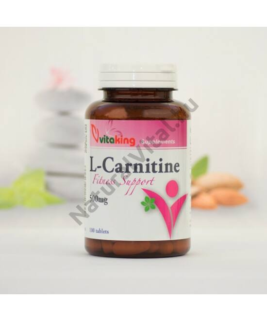 Vitaking L-karnitin 500mg tabletta 100 db
