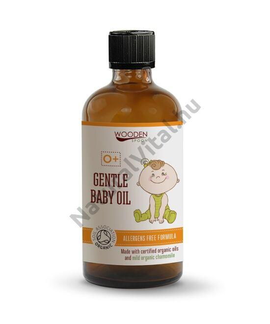 Wooden Spoon Bio gyengéd babaolaj (100 ml)