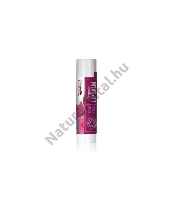 Wooden Spoon Bio ajakbalzsam - Rózsa csók (4,3 ml)